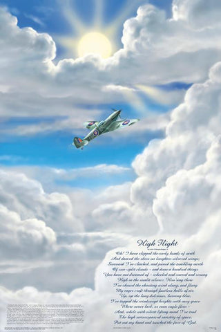 High Flight Poem Poster 24x36