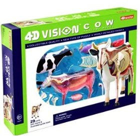 4D Vision Cow Anatomy Model 3D CutAway Puzzle Toy