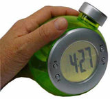 Water Powered Digital Clock Green