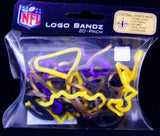 New Orleans Saints NFL licensed Logo Bandz Rubber Band Bracelets 20pk