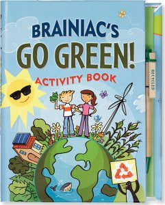Brainiac's Go Green! Science Awareness Activity Book