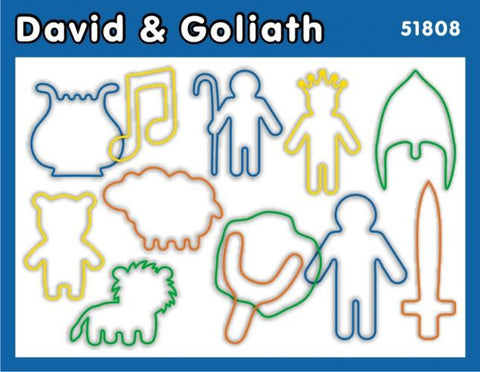David and Goliath: Christian Faith Bands Rubber Band Bracelets 12pk