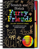 Scratch and Sketch Furry Friends Art Activity Book