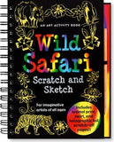 Scratch and Sketch Wild Safari Art Activity Book