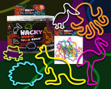 Wacky Animals fea. Hedgehog and Octopus Rubba Bandz Rubber Band Bracelets 12pk