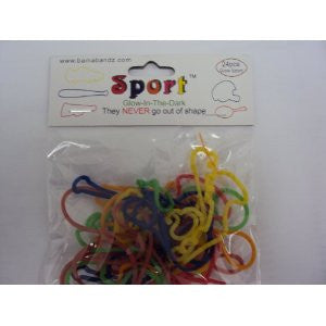 Bama Bandz Sport Shaped Rubber Band Bracelets - 24 pk