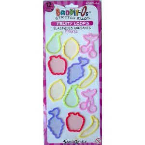Bandit-O's FRUITY (Series 1) Rubber Band Bracelets 12pk
