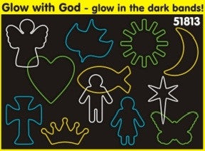 Glow with God: Christian Faith Bands Glow-in-the-Dark Rubber Band Bracelets 12pk