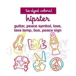 HIPSTER Stretchy Shapes: Tie-Dyed Rubber Band Bracelets 24 Pack