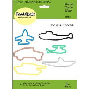 Bandz Mania: Armed Forces Shaped Rubber Bands 24pk