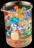 Jumbo Polymer Balls - Rainbow Super Growing Polymer Gel Balls 8 oz