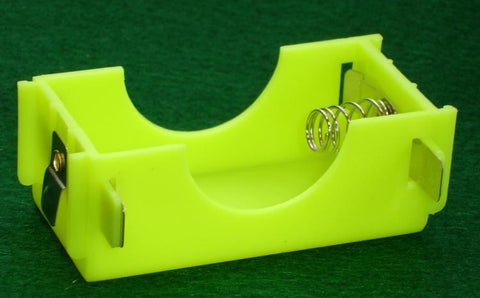 4 Interlocking Yellow Plastic D-Cell Battery Holders