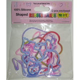 Peace, Love, & Harmony TIE-DYE Rubber Band Bracelets 12pk