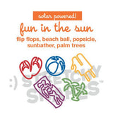 FUN IN THE SUN UV-activated Color Changing Rubber Bands 20pk