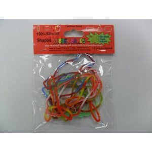 Fast Food TIE-DYE and GLOW Rubber Band Bracelets 12pk