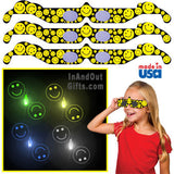 3D Holographic Glasses: See SMILEY FACE at Any Bright Point of Light-Pack of 10