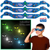 3D Holographic Glasses: See ALIENS At Any Bright Point Of Light-Pack of 10