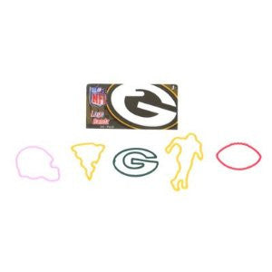 Green Bay Packers Version 2 NFL licensed Logo Bandz Rubber Bands 20pk