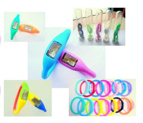 Silly Cute Bands Elastic Digital Watch Bracelet 16cm Color Chosen At Random