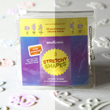 EMOTICONS Solar Powered Color Changing Rubber Bands Stretchy Shapes 20pk