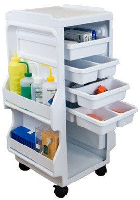 Light Duty Lab Cart with 4 Drawers