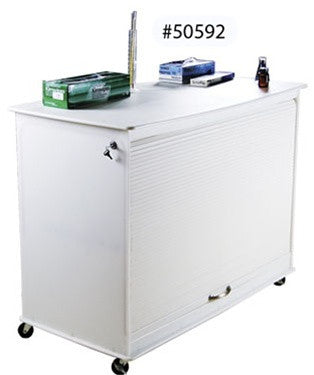 Cayman Lab Cart: Locking Mobile Storage and 4ft Workspace