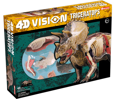 4D Vision Triceratops Anatomy Model 3D CutAway Puzzle