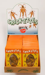 Crickettes Snack Box by Hotlix - Box of 24 Packs Bacon & Cheese Flavor