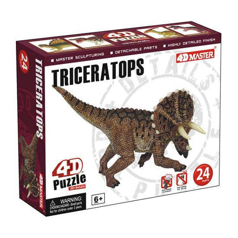 4D Master Triceratops Model  Realistic Detail 3D Puzzle