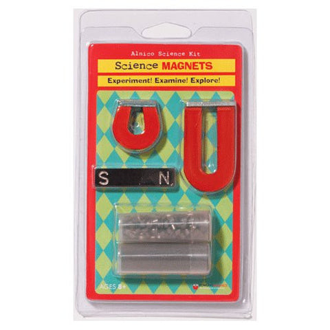 Science Magnets: Alnico Science Kit: 3 Magnets & More