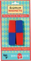 3.25 Inch North/South Bar Magnets: 2 Pieces Plastic Encased