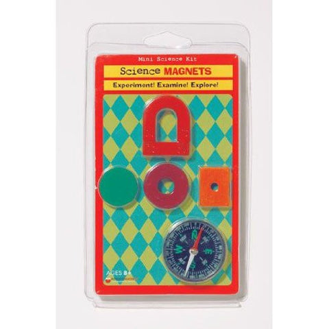Science Magnets: Mini Science Kit: 5 Magnets & Compass