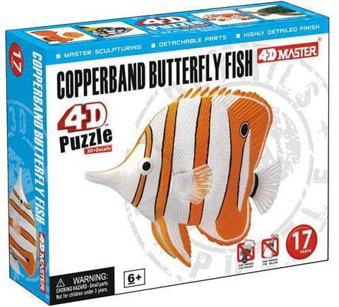 4D Copperband Butterfly Fish 17 Piece Puzzle Realistic Detail