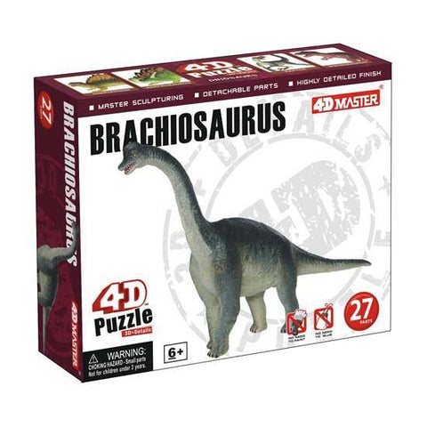 Brachiosaurus 4D Dinosaur Puzzle 27 Pieces Realistic Detail - Off The Wall Toys and Gifts