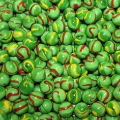 1000 Count Bulk Green Dragon 1/2 Inch PeeWee Glass Mega Marbles