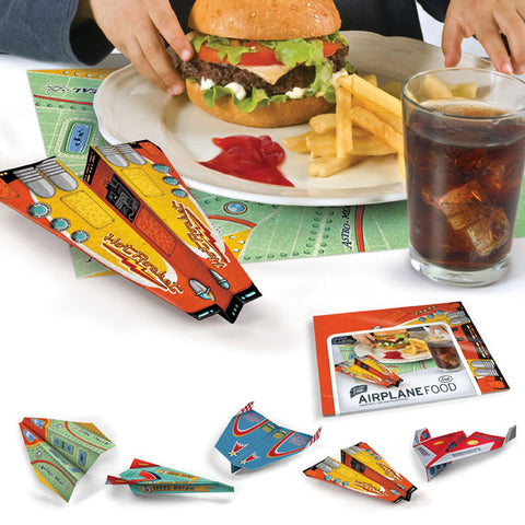 Airplane Food Placemats Set of 50/ 5 Different Designs