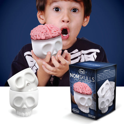 NOMSKULLS Skull Shaped Cupcake Molds Set of 4