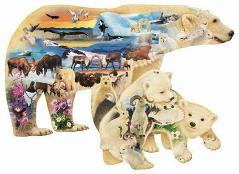 Polar Explorers Bear Shaped Jigsaw Puzzle 1000 Piece