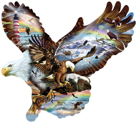 Eagle Eye - Custom Shaped Jigsaw Puzzle - 1000 pc