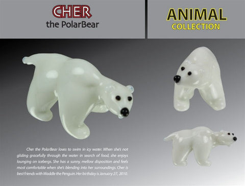 Looking Glass Torch Figurine-Cher the Polar Bear-Ltd Ed