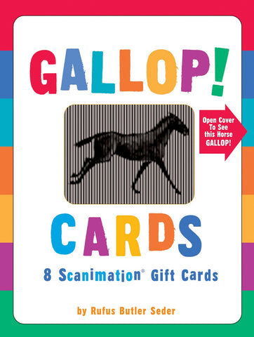 GALLOP! - Set of 8 Scanimation Gift Cards