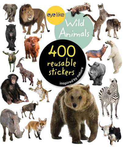 Eyelike Sticker Book: Wild Animals from Around the World w/400 Reusable Stickers