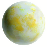 "Giant Glass ""Asteroid"" Marble 35mm - Pack of 4 (Red, Yellow, Green, & Blue)"
