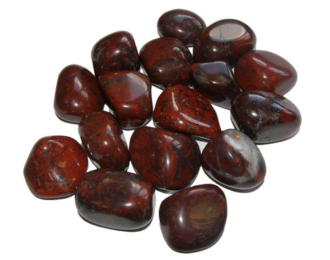 Tumbled Red Petrified Algae Stromatolite Fossil Stone Specimens - 4 Ounces (Approx 15 Pc)