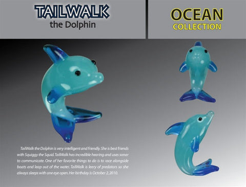 Looking Glass Torch Figurine-Tailwalk the Dolphin-Ltd Ed