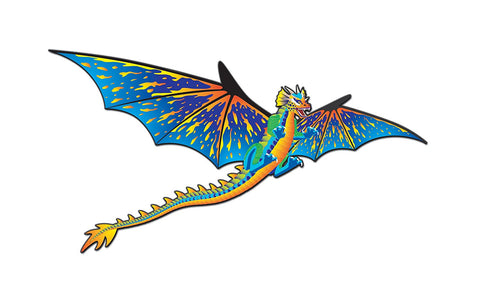 Supersize 3-D Dragon Nylon Kite w String: 76 Inch Wingspan