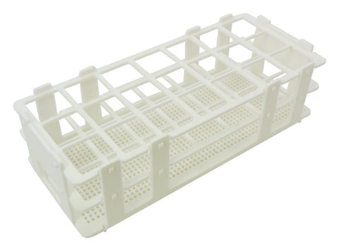 90 Place Polypropylene Wet/Dry Test Tube Rack w/ 13mm holes
