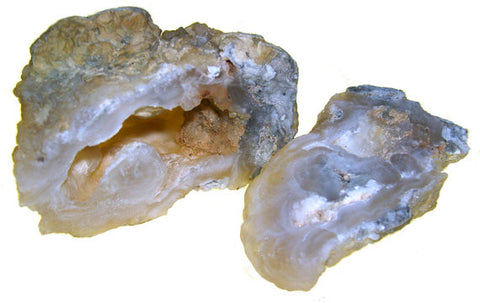 Chalcedony Crack Open Geodes Approx. 1.75 - 2  Inches - Pack of 2