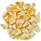 Bulk 50 Piece Natural Citrine Quartz Crystal Shards - Rough Unpolished Yellow Gemstone Crystals