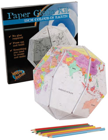 17cm Color-In Earth Paper Globe Activity Kit